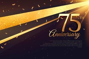 Modelo de cartão de celebração 75º aniversário
