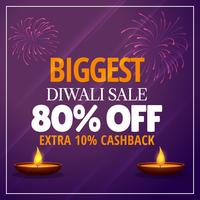 biggest diwali sale offer with diya and fireworks