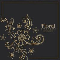 stylish floral pattern design background