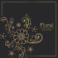 Fondo de diseño elegante patrón floral