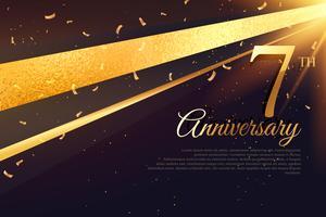 Modèle de carte de célébration 7e anniversaire