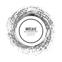 marco de mosaico de semitono en negro