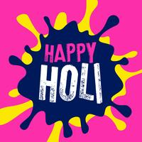 happy holi color splash vector background