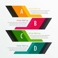 infographics options design template