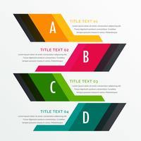 plantilla de diseño de opciones de infografía