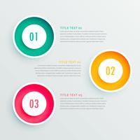 elegant three steps infographic design