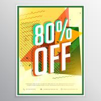 concept de design vente affiche bannière flyer