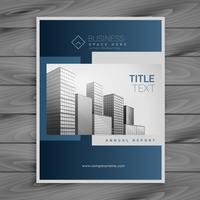 professionell blå företags broschyr mall design