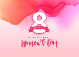 beautiful international women's day greeting background