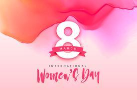 vacker internationell kvinnors dag hälsning bakgrund