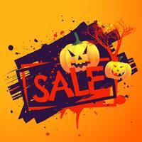 sfondo di vendita stagionale di Halloween