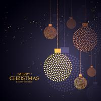 design creativo palle di Natale fatto con piccoli punti