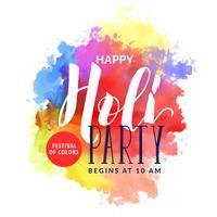 Fondo acuarela abstracta para feliz festival de holi