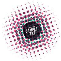 Fondo de vector de semitono de puntos coloridos abstractos