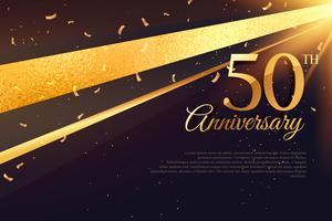 Modello di carta celebrazione 50 ° anniversario