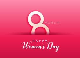 rosa bakgrund för lycklig kvinnodag