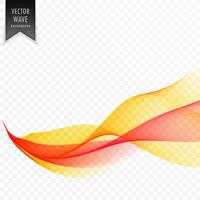 red and yellow abstract vector wave background