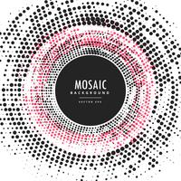 mosaic halftone abstract circular frame background