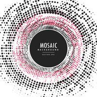Fondo de marco circular abstracto de semitono de mosaico