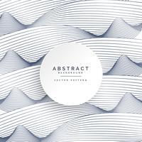 élégant fond blanc avec des lignes abstraites ondulées