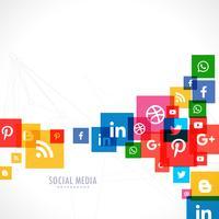 sociala medier ikoner bakgrund