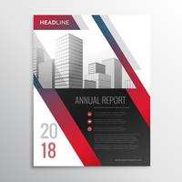 Resumen de negocios rojo folleto flyer diseño vector plantilla