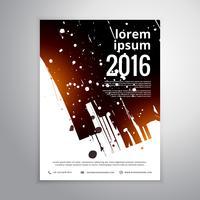 abstrakte Tinte Splatter Geschäftsbroschüre Flyer Vorlage