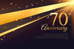 70. Jubiläumsfeier Kartenvorlage