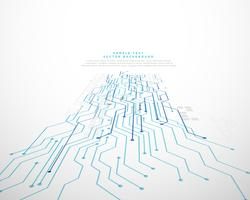 technology perspective network mesh vector background