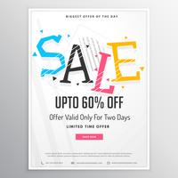 promotional sale brochure template for marketing with colorful s