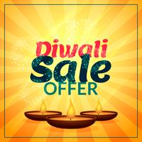 diwali sale offer with three diya
