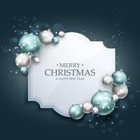 schöner Weihnachtsgrußhintergrund mit realistischem Weihnachten