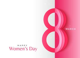 creative happy women's day background with origami style art