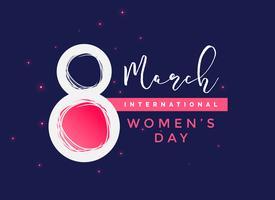 fundo de vetor de dia internacional da mulher
