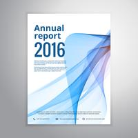 business annual report leaflet brochure flyer design with blue w