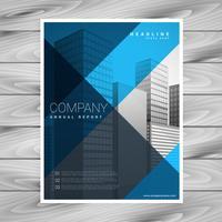 abstrakt blå företags broschyr mall design