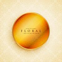 bela decoração floral com círculo dourado em estilo vintage