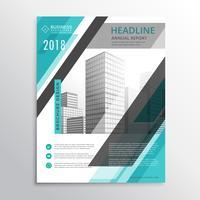 abstract blue flyer brochure sjabloonontwerp voor uw bedrijf pr