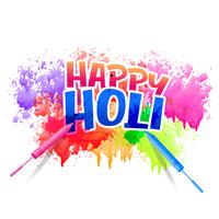 happy holi design with watercolor splash