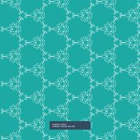 fundo de padrão floral de cor turquesa