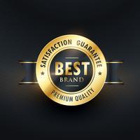 Goldenes Label für beste Markenzufriedenheit