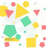 Fondo colorido con formas geométricas.