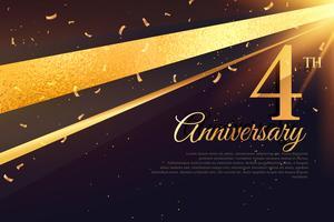 Modèle de carte de célébration 4e anniversaire
