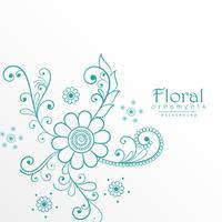 fond de belle décoration florale bleue