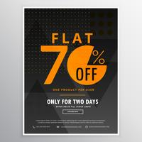 sale flyer promotional banner template design in dark black colo