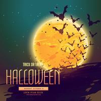sfondo di Halloween con pipistrelli flyeing