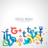 social networks icons background