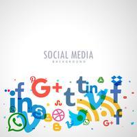 Fondo de iconos de redes sociales