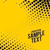 yellow background with black halftone effect