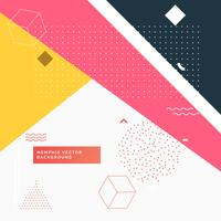 färgstark abstrakt geometrisk memphisbakgrund